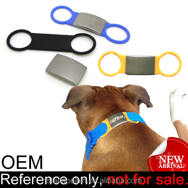 Promotion Cheap Custom Logo QR Code Dog Collar Silicone Pet ID Tags