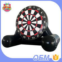 Hot Selling Custom Giant Funny Sticky Foot Soccer Game Inflatable Dart Board For Sale
