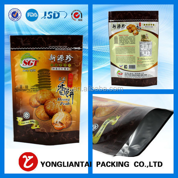factory price round bottom aluminum foil bag/food packaging of stand up bags