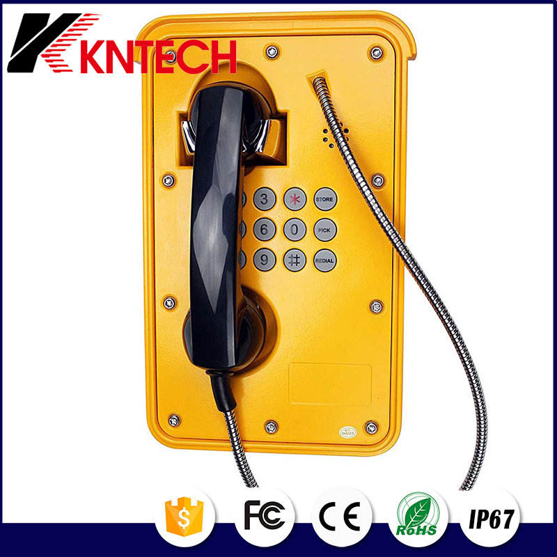 2016 New Mine-used intrinsic safety type explosion-proof telephone Call with beacon industrial telephone KNTECH KNSP-09