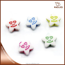 Star Shape Smile Face Plastic Bead DIY Toys for Kids 12mm Bracelet and Necklace Bead