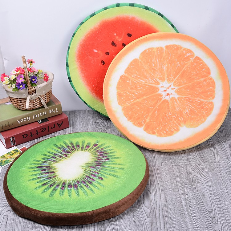 Watermelon, oranges, kiwi fruit dog pet bed