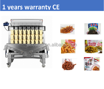 Automatic combination multihead weigher for weighing packaging machine for sticky food