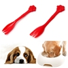 Lowest Price 1PCS Red Pet Feeding Fork Tin Food Mixing Spoon For Dog Puppy for Cat Kitty 7.5Inch Durable Hot Sale