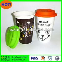 FDA silicone biodegradable coffee cup lids