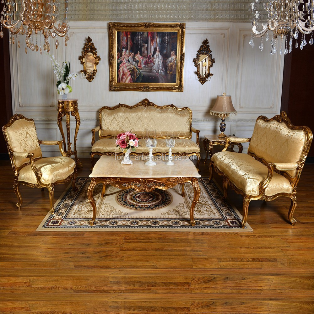 C89 Antique European Fabric Furniture Set