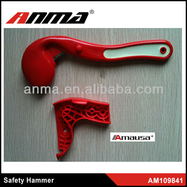 Yellow Single Head emergency safety hammer