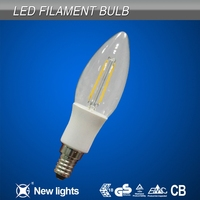 Interior lighting best selling milk white replace halogen lamp 20w2w led filament bulb c35