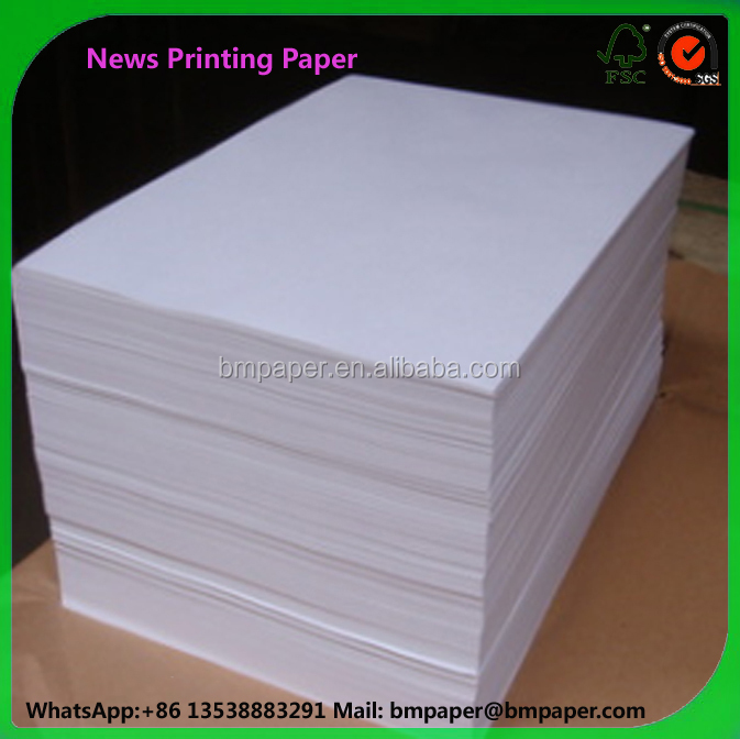 China Cheap Waste Newsprint Paper 48.8gsm