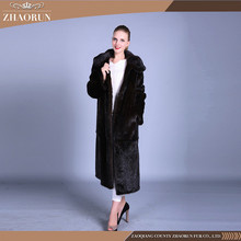 Russian style mink fur coat , real natural mink fur parka