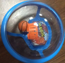 New design 2016 Funny Transparent ball with mini basketball and basketball hoop inside magic sports