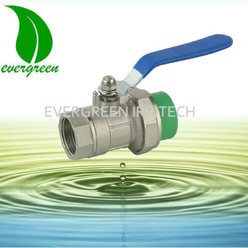 10000 Times Long Life PN16 long handle Brass PPR Ball Valve