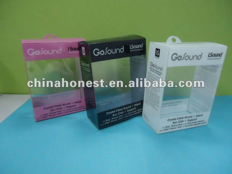 Clear Plastic color PVC Box for Socks