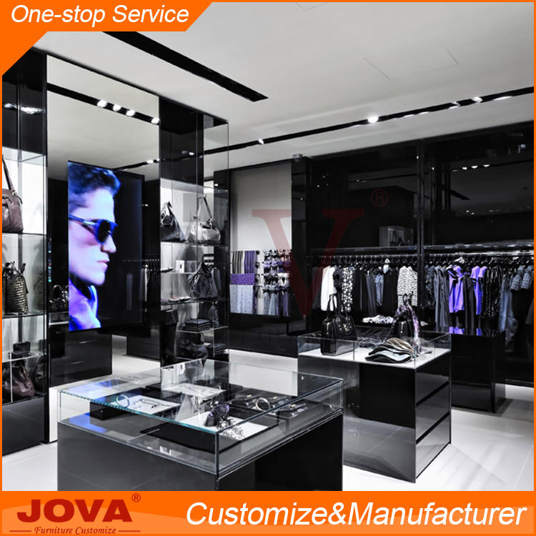 Retail Garment Shop Interior Design , Modern Design Cheap Clothes Display Cabinet , Unique Clothes Kiosk Design