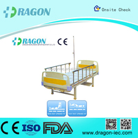 DW-BD176 Moveable Steel Manual Care Bed Price with Aluminum Said Rails