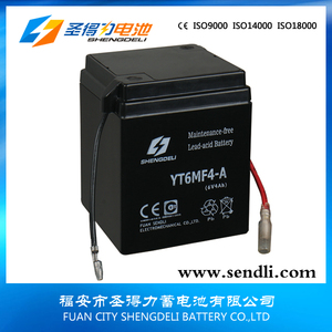 Motorbike Battery 6N4-2A-4 6V4AH Motorcycle Lead Acid Starter Battery