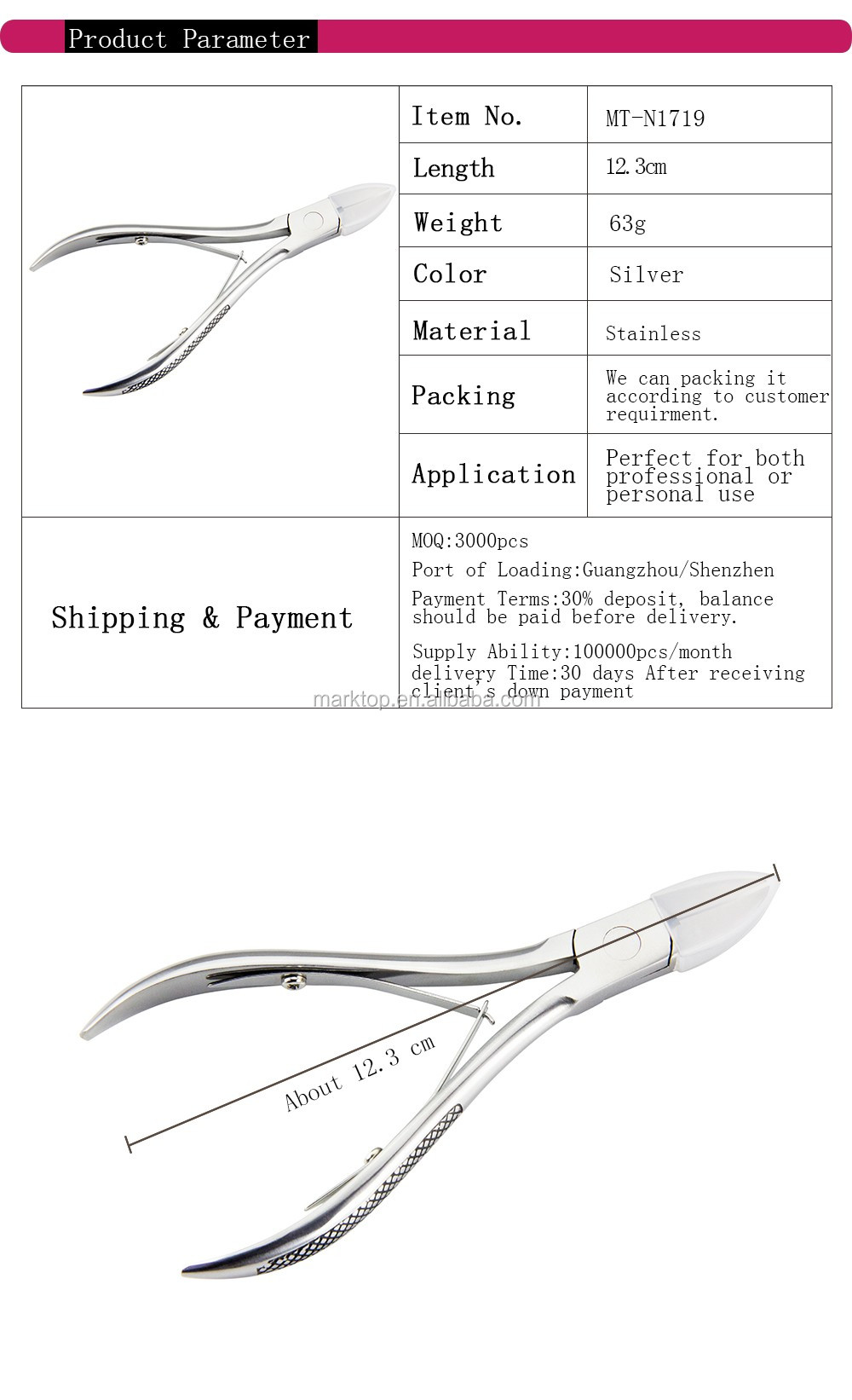 Stainless Cuticle Nipper