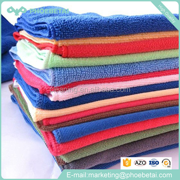 colorful car wash plush microfiber cleaning cloth