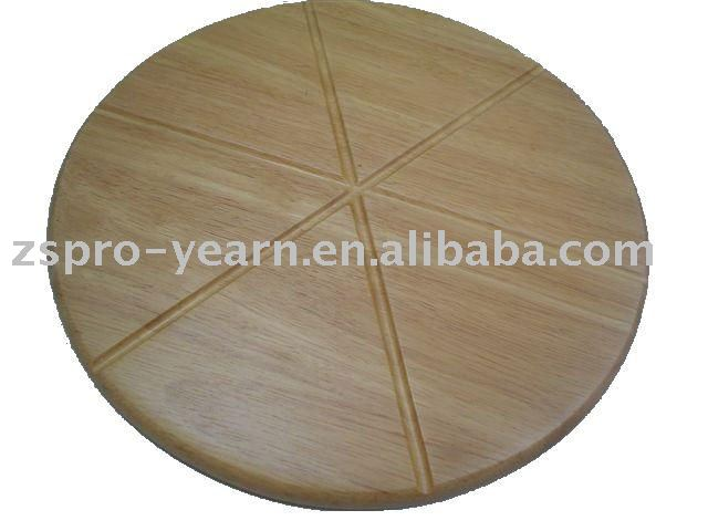 Bread Cutting Board Cake Chopping Block of Wood or Bamboo with Groove and Round Shape