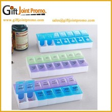 Custom Made Removable Plastic Pillbox,Promotional 14 days Pill Box