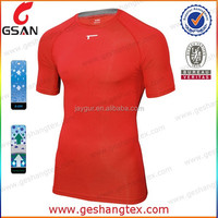 Moisture wicking men sports compression clothing