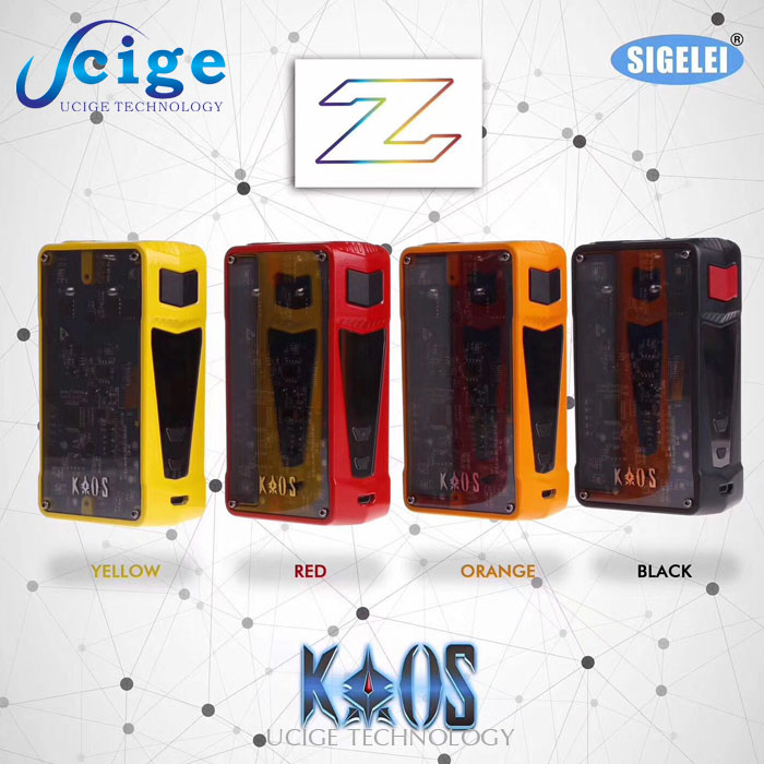 Sigelei Kaos Z Electoric cigarette Ucige original Sigelei Kaos Spectrum 230W Kit with factory price