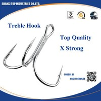 Fishing tackle accessories treble hook with Barbed treble fish Hooks