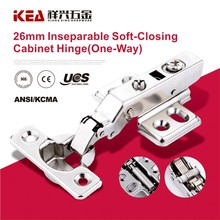 [K54] 26mm Cup Inseparable Mini Soft- Closing Cabinet Furniture Hydraulic Cylinder Hinge (one way )