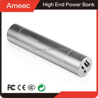 Ameec china supplier OEM li-ion battery 3.7v 2600mah power bank external battery bateria externa for all smart mobile phone