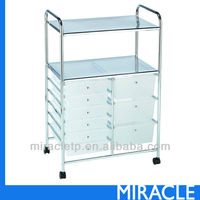 9 PP Plastic White Storage Drawers Cart Organizer
