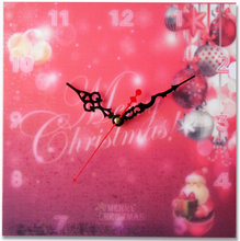 Kids Christmas cheap art wall clock