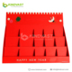 China merchandise lucky red pocket cardboard counter rack for shop