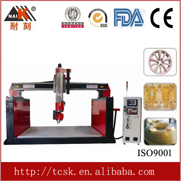 5 axis cnc wood carving machine, China cnc router for big wood model making