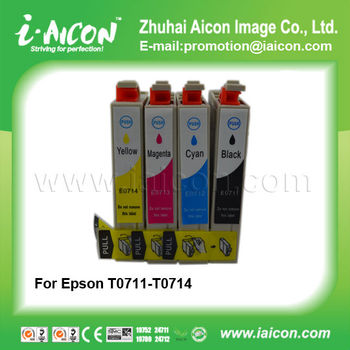 For Epson ink cartridge T0711 T0712 T0713 T0714
