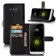 Wholesale Factory Price Flip PU Leather Cell Phone Case for LG G6 with Card Slot and Stand Function
