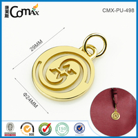 Snap hook hollow out letter round design handbag metal charming keychain