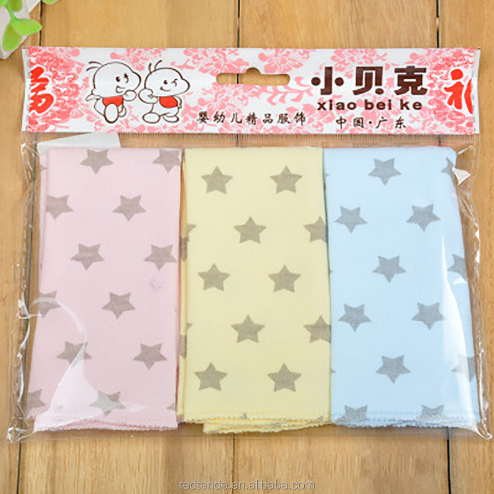 Lovely star pattern pure cotton baby saliva towel children handkerchief for water absorption