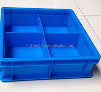 plastic storage box with divider wide used in warehouse, hospital