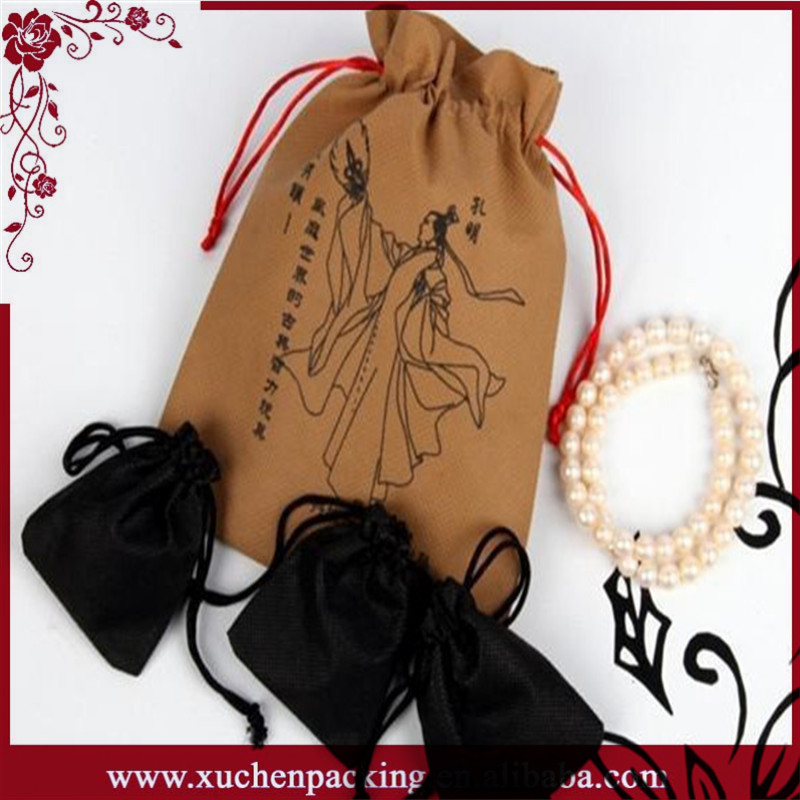 Hot Sale Fashion Promotional Drawstring Custom Luxury For Jewelry Gift Packing Paper Bag