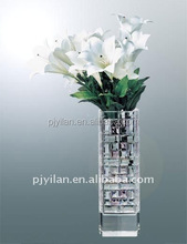 elegant white glass crystal wedding vase