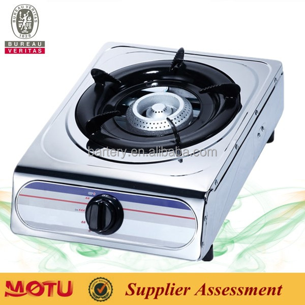 Table top single burne/two burners stainless steel gas stove / gas cooker