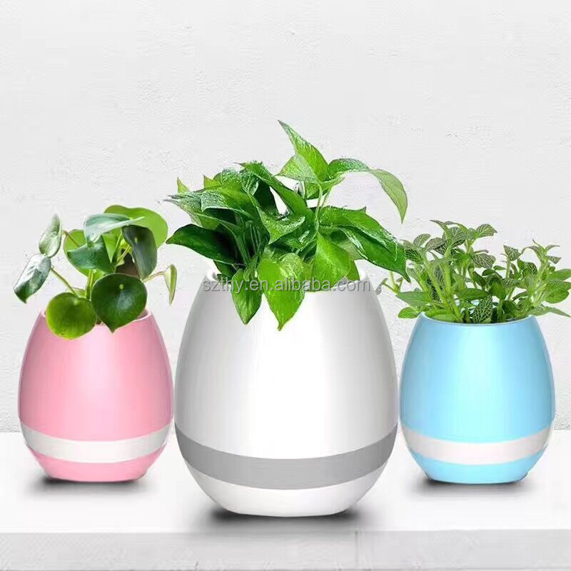 Smart Bluetooth Music Speaker With Light Touch Plant Can Sing Several songs