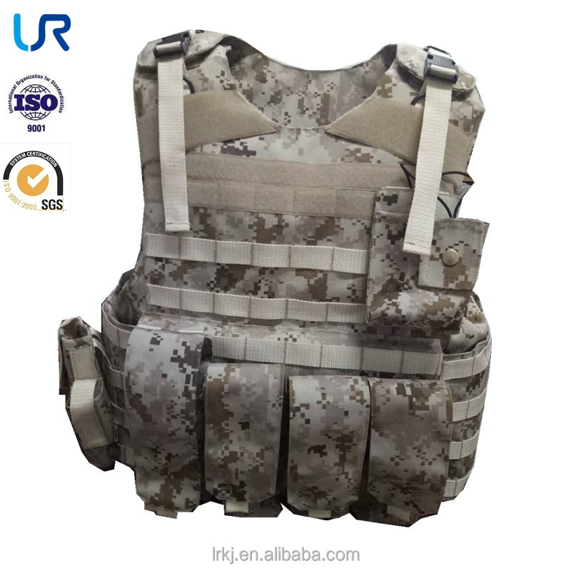 Cheap black bulletproof tactical moll vest body armor clothing