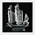 Exquisite crystal boat model for home decoration