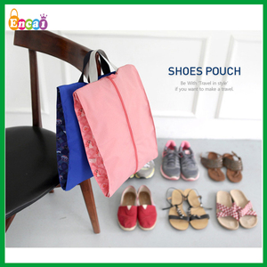 Encai New Style Fashion Travel Organizer Shoes Bag/Colourful Waterproof Folding Shoes Pouch With Handle