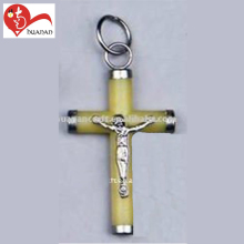 European christian religious luminated stand jesus cross plastic crucifix pendent