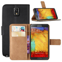 Genuine Leather Wallet Case Cover for Samsung Galaxy Note 3