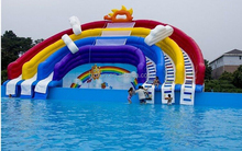 Outdoor Thrilling Inflatable Water Park / Inflatable Water Sport / Inflatable Water swimming pool