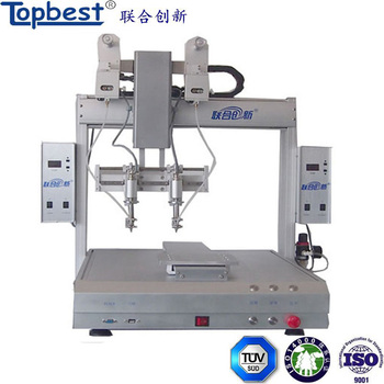 Automatic drag and spot soldering machine with high efficient soldering