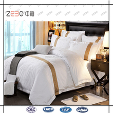 100% Cotton Jacquard Fabric Bed Linen Wholesale Hotel Design Bedding Sets